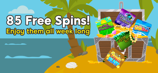 Get ready to collect 85 Free Spins!